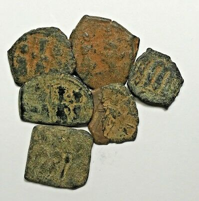 LOT OF 6pcs BYZANTINE BRONZE COINS