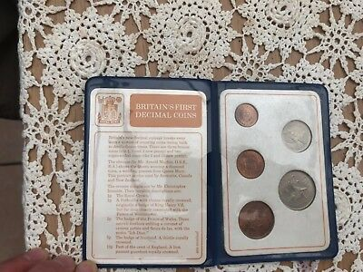 Britains First  Decimal Coins 1968-1971 Collectable
