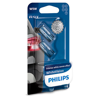 12V 5W PHILIPS SIDE LIGHT BULBS FOR Jaguar X-Type BLUE 501/'s FRONT W5W T10