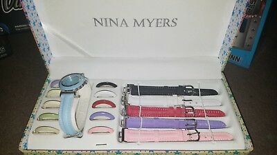 NINA MYERS INTERCHANGEABLE Watch Straps and Face Frames - 5 Multi ... fe35cea30034