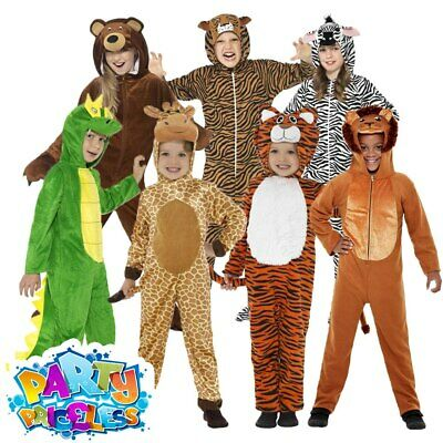 42c7476b1 Kids Zoo Animal Costume Jumpsuit Girls Boys Fancy Dress Outfit Childs Book  Day
