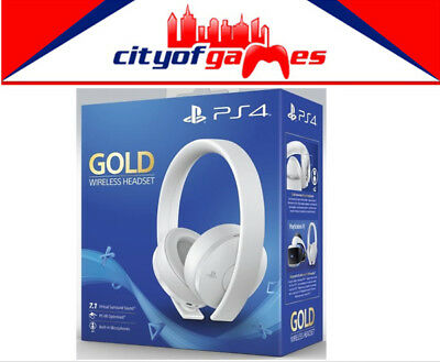 Sony Wireless Stereo Headset Gold White PS4 Brand New In Stock