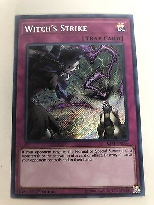 YuGiOh: SAST-EN079 -WITCH'S STRIKE- Secret Rare, 1st Edition, NEW