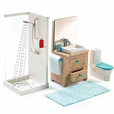 Djeco Modern Doll House Furniture Set - The Bathroom