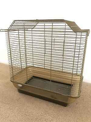 Retro Gold Bird Cage Hagen For Budgies Canary Finch Mid Century Modern Vintage