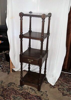 Pennsylvania House Solid Walnut Etagere Four Tier Shelf with Drawer Limited