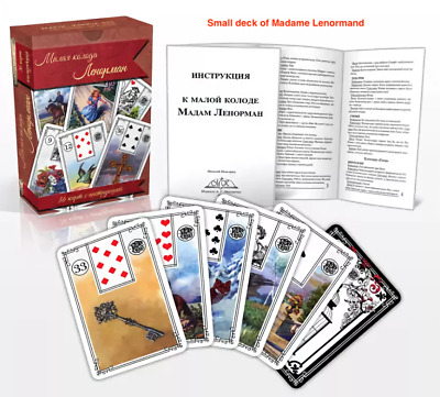 Madame Lenormand New 36 Beauiful Card Deck by Magic Kniga