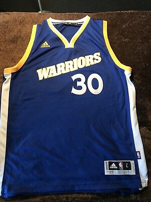 Adidas Steph Curry  30 Swingman Jersey Men s Large Golden State Warriors  Away 2e86c3aea