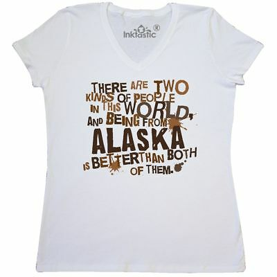 cd8d6f65bc Inktastic Funny Alaska Quote Gift Women's V-Neck T-Shirt State Humor Two  Kinds