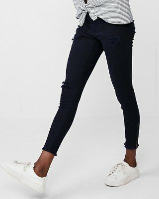 568ee0c52187e New Express Mid Rise Frayed Waistband Stretch Ankle Leggings Pants Jeans 10R
