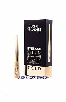 NEW LONG 4 LASHES GOLD Serum Stimulating Eyelash Growth 4ml