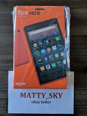 Amazon Fire HD 8 Punch Red 16GB (Latest 8th Gen Model w/ Offers) *NEW/SEALED*