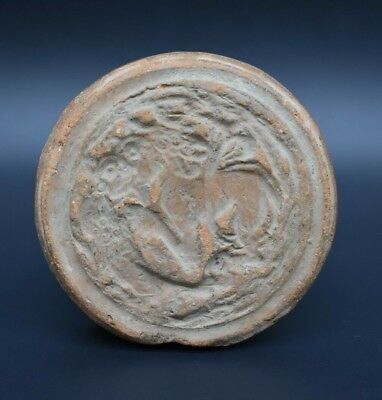 Large ancient Sasanian clay seal C. 3rd - 7th century AD