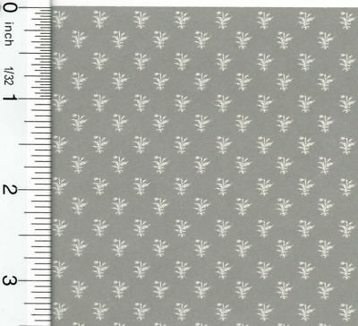 Dollhouse Miniature 1:12 Scale Thistle Gray Wallpaper by Brodnax Prints