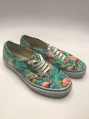 baf6054521b Vans Authentic Off the Wall Van Doren Tropical Flamingo Print Men s 7.5  Women 9