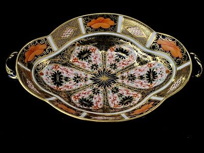 Royal Crown Derby Old Imari Footed Serving Bowl with Handles