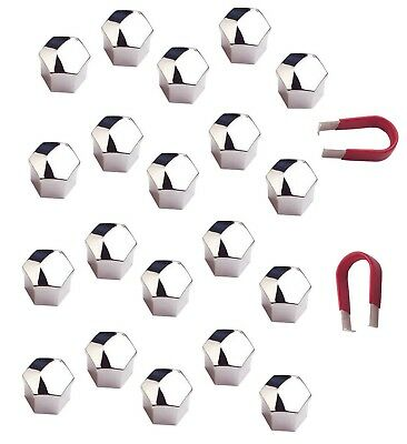 20 x Chrome Wheel Bolt Nut Covers 19mm For Fiat Barchetta & Coupe