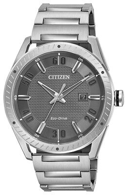 Citizen Eco-Drive Men's Drive Gray Dial Silver-Tone 42mm Watch BM6991-52H