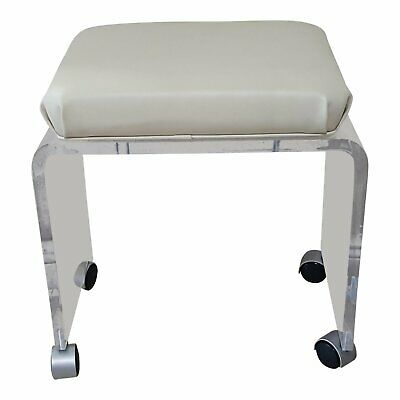 Lucite Acrylic Vanity Stool Bench Vintage Hollywood Regency Mid