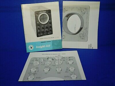 Vintage Instruction Owners Manual - Allied Knight Oscilloscope