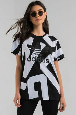 f4eed5dd3459 WOMEN S ADIDAS ORIGINALS T-shirt Boyfriend Trefoil Crew Neck Short ...