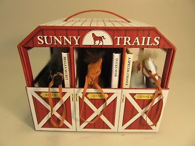 Sunny Trail Horses and stable Set With Story's by Kathryn Cristensen