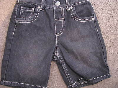 Bnwt Boys Black Denim Shorts Size 1 /  2 /  3