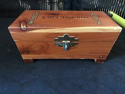 Vintage Wooden Box Treasure Wood Box Hoover Dam 3 By 7