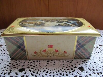 Biscuit Tin Scotch Thistle United Cooperative Baking Society Glasgow England Vtg