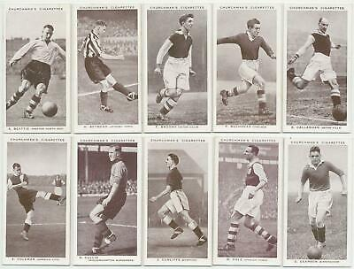 CHURCHMAN - 1938 : Association Footballers, 1st Series Cmpl. Set (50) Cig. Cards