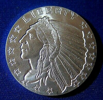 1/2 oz Golden State Mint Silver Round - Incuse Indian Head - .999 Fine Silver