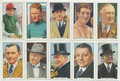 GALLAHER - 1936 : Sporting Personalities Complete Set (48) Cigarette Cards