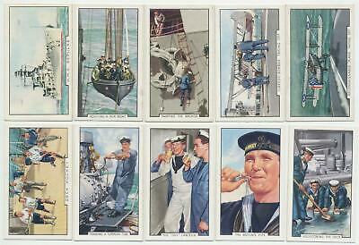 GALLAHER - 1937 : The Navy (Park Drive) Complete Set (48) Cigarette Cards