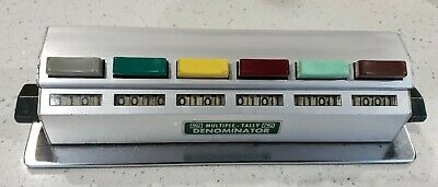 1 X 6 Denominator Multiple Tally Bus Counter 1 Row Of 6 Units With 4 Digits