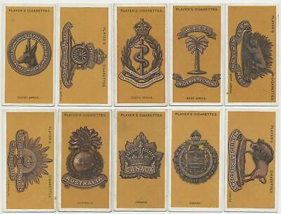 PLAYER, John - 1917 : Colonial & Indian Army Badges Complete Set (25) Cig. Cards