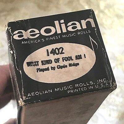 "Aeolian Player Piano Roll ""What Kind of Fool Am I"" No.1402  Good Condition!"
