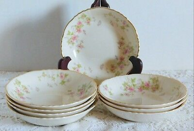 8 Beautiful Syracuse China Federal Shape Stansbury Floral Fruit Bowls