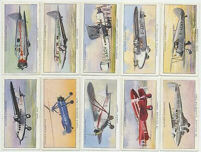 PLAYER, John - 1935 : Aeroplanes (Civil) Complete Set (50) Cigarette Cards