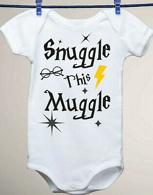 Harry Potter Muggle in the streets Onesie Organic Cotton Wizard with my peeps