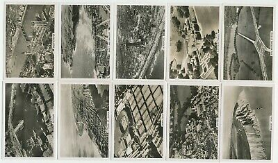 PATTREIOUEX- 1939 : Britain From The Air [Photos] Cmpl Set (48) Large Cig. Cards