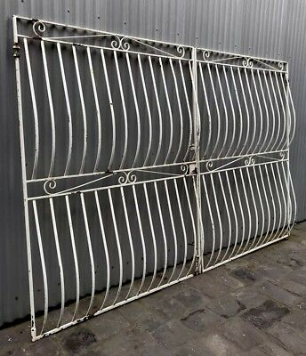 Lge Vintage Retro Wrought Iron Metal Decorative House Driveway Gates Coburg Melb