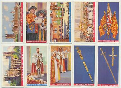 PHILLIPS- 1937 : Coronation Of Their Majesties Complete Set (50) Cigarette Cards