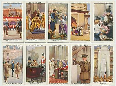 WILLS UK - 1935 : The Reign Of H.M. King George V Complete Set (50) Cig. Cards