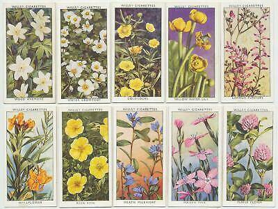 WILLS UK - 1937 : Wild Flowers, 2nd Series Complete Set (50) Cigarette Cards