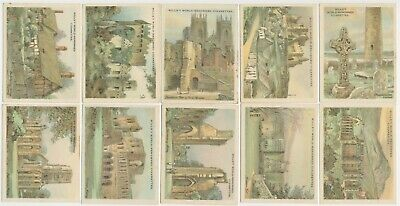 WILLS AU - 1928 : The Nations Shrines Complete Set (25) Large Cigarette Cards