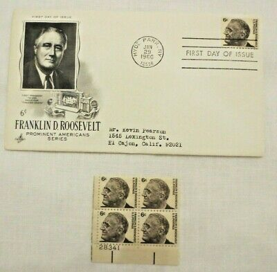 Franklin D Roosevelt 1966 First Day Issue 4
