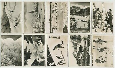 PATTREIOUEX - 1937 : Winter Scenes [Photos] Part Set (43/48) Large Cig. Cards