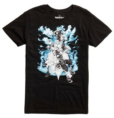 Disney Kingdom Hearts Characters Black T-Shirt New with Tags