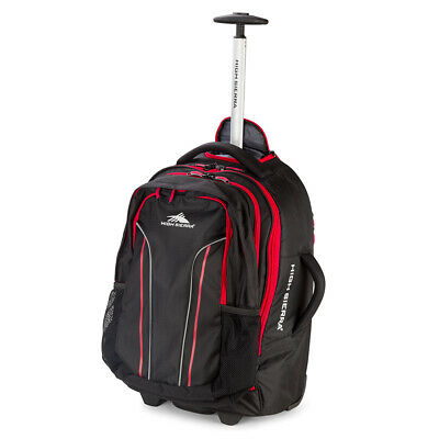 NEW High Sierra Composite Wheeled Duffle w/Daypack Black 56cm