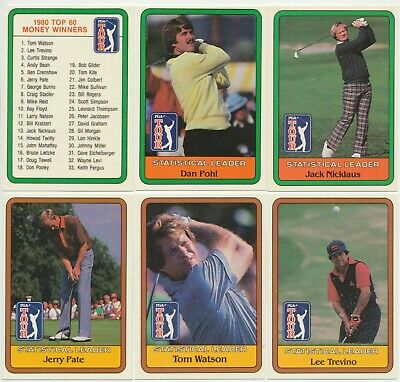 DONRUSS - 1981 : 1980 PGA Golf Tour Complete Set (66) Extra Large Trade Cards